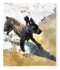 Field Spaniel Joy Fleece Blanket