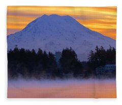 Fiery Dawn Fleece Blanket