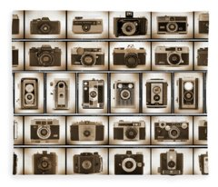 Film Camera Proofs Fleece Blanket