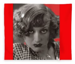 Film Homage Joan Crawford Lewis Miestone Rain Collage Color Added 2010 Fleece Blanket