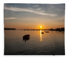 Findhorn Sunset Fleece Blanket