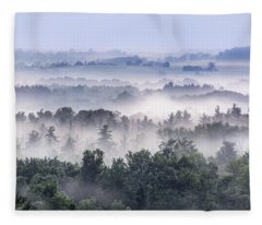 Finger Lakes Morning Fleece Blanket