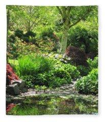 Finnerty Gardens Pond Fleece Blanket