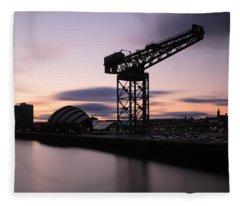 Finnieston Crane Glasgow  Fleece Blanket