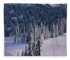 Fir Trees, Mount Rainier National Park Fleece Blanket