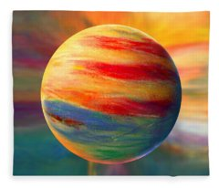 Fire And Ice Ball  Fleece Blanket