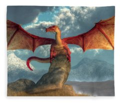 Fire Dragon Fleece Blanket