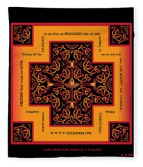 Fire Dragon Celtic Cross Fleece Blanket