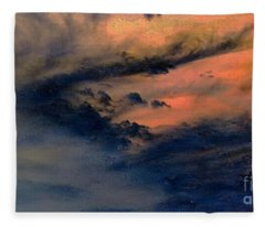 Fire In The Hills Fleece Blanket