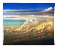 Fire In The Sky From 35000 Feet Fleece Blanket