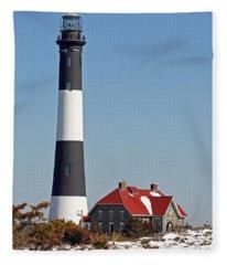 Fire Island Snow Fleece Blanket
