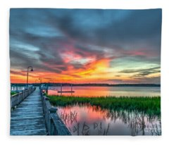 Fire Light Fleece Blanket