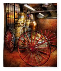 Fireman - One Day A Long Time Ago  Fleece Blanket