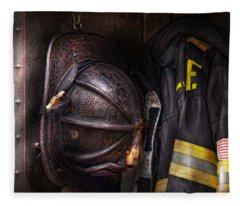 Fireman - Worn And Used Fleece Blanket