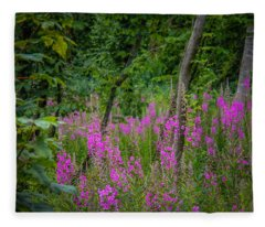 Fireweed In The Irish Countryside Fleece Blanket