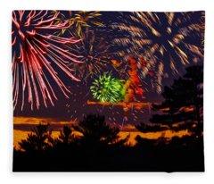 Fireworks No.1 Fleece Blanket