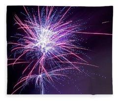 Fireworks - Purple Haze Fleece Blanket