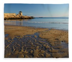 First Beach Sunrise In Rockport Fleece Blanket