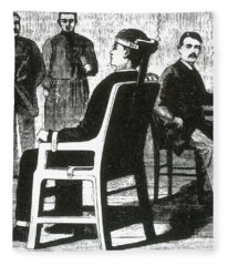 First Design For Electric Chair, 1890 Fleece Blanket
