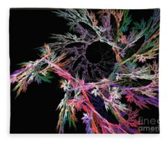 First Flower - Abstract Art Fleece Blanket