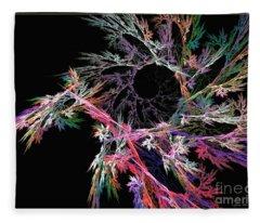 First Flower - Abstract Art Fleece Blanket