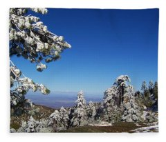 First Snow Of The Season Fleece Blanket