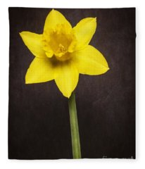 First Spring Daffodil Fleece Blanket