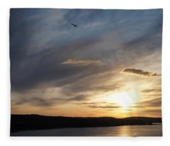 Firth Of Forth In The Sunset Fleece Blanket