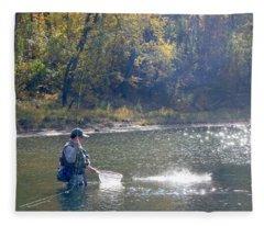 Fish On 002 Fleece Blanket