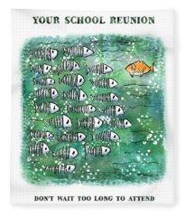 Fish School Reunion Fleece Blanket