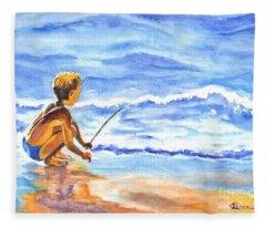 Fisherboy Fleece Blanket