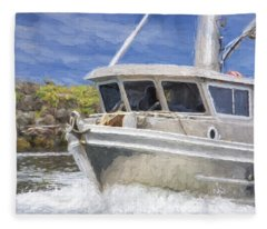 Fisherman's Prayer - West Coast Art Fleece Blanket
