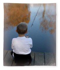 Fishin' Fleece Blanket