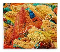 Fishing Float Nets Fleece Blanket
