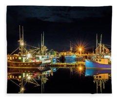 Fishing Hamlet Fleece Blanket