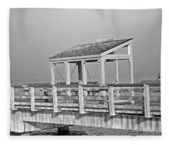 Fishing Pier Fleece Blanket
