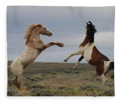Fist Fight  Fleece Blanket