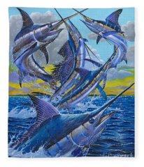 Five Billfish Off00136 Fleece Blanket