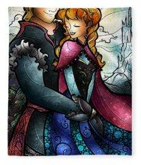 We Found Love In A Frozen Place Fleece Blanket
