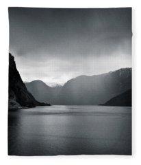 Fjord Rain Fleece Blanket