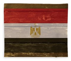 Egypt National Flag On Wood Fleece Blanket
