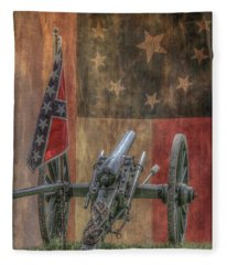 Flags Of The Confederacy Fleece Blanket