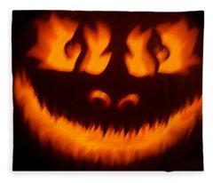 Flame Pumpkin Fleece Blanket