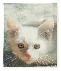 Flamepoint Siamese Kitten Fleece Blanket
