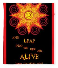 Flaming Celtic Sun Fleece Blanket
