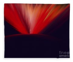 Flaming Planet Fleece Blanket