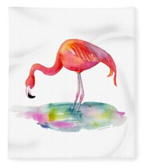 Flamingo Dip Fleece Blanket