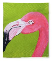 Flamingo Head Fleece Blanket
