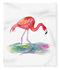 Flamingo Step Fleece Blanket