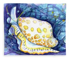 Flamingo Tongue Fleece Blanket